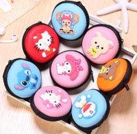Wholesale New Cute Creative Cartoon Portable Earphone Bag Coin Purse Wallet Headphone Cable Storage Box Key Bag