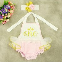 Wholesale Cotton Ruffle Baby Bubble Romper Set Letter Printed Girls Bodysuit Shinny Rompers O Neck Style Hot Sale