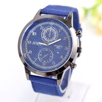 Wholesale 2016 fashion creative women watch Quartz watch Cloth fabric watch band gold Stainless steel watch case