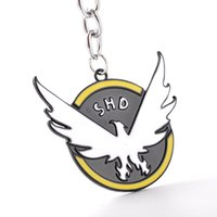 agent ring - hot game jewelry Tom Clancy s The Division Logo Key Chain Pendant SHD Collector s Agents ID Men COSplay Key rings for fans