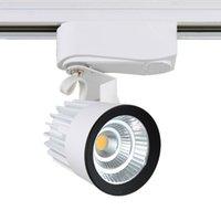 Wholesale 1pcs COB W lm AC85 V Led Track light Track aluminum Ceiling Rail Track lighting Spot Rail Super Bright