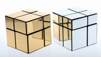 best toy mirror - Best Magic cubo Cast Coated cube golden silver puzzle cube Mirror Surface Puzzle Speed Cube Educational toys