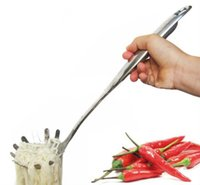 Wholesale Stainless Steel Pasta Fork Server Noodles Fork with Ergonomic Handle