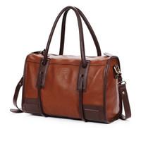 Wholesale 2016 Quality Fashion Women Vintage PU Leather Brown Ladies Hobo Tote Messenger Handbag Shoulder Satchel Bag Z1