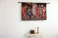 Wholesale The Adoration of the Magi Medieval Fine Art Tapestry Wall Hanging Home Decor Gift Cotton Jacquard Woven x cm