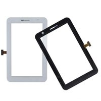 Wholesale 50PCS Touch Screen Digitizer Glass Lens with Tape for Samsung Galaxy Tab Plus P6200 free DHL
