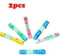 Wholesale 2pcs Portable Body Measuring Ruler Sewing Tailor Tape Measure Soft Flat m