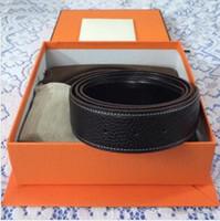 belt bag for sale - 1 Black mens belts H large buckle Belt for men Hot Sales Genuine Leather Belt Men Brand with box and dust bags