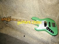 Wholesale NEW Green Left Handed strings Bass Guitar Maple fingerboardOEM guitar