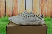 Cheap [with Box] Wholesale 2016 Kanye West Boost Yeezy 350 Pirate Black Low Sport Running Shoes Women's Men's Shoes Yeezy 350 Boots Shoes