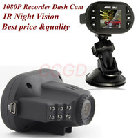 Wholesale 1080P HD CAR DVR Vehicle Video Camera Recorder Dash Cam G sensor IR Night Vision