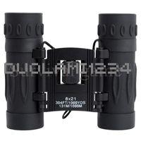 ejército de revestimiento múltiple Azul 8x21 HD de alta definición Día Noche visión binocular Telescopio de Caza Senderismo Escalada