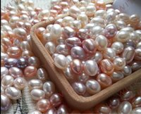 Wholesale natural freshwater pearl beads scattered single white light rice shaped water droplets