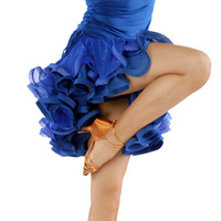 ballroom dancing skirts practice - New women Ballroom Dance Costume Sequins Stage Performance skirt Competition Latin Dance Dress practice skirt Dancewear