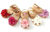 Wholesale 2016 summer style baby shoes girls sandals flower girls princess shoes baby girl shoe children shoes infant sandals