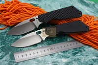 Wholesale Strider SMF SNG ST folding knife D2 High Speed Steel stonewashed Blade styles G10 TC4 titanium alloy handle with Gift box