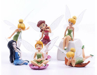 Wholesale 36pcs DHL Free Fairy Pixie Fly Wing Spirit Baby Miniature Dollhouse Bonsai Garden Ornament Craft in Action Figurine Fairy Garden Miniatures