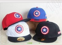 baseball cap captain - 20 design LJJK321 Kids cap Flat Adjustable hip hop visor snapback unisex newyork big boy Baseball Cap angry birds Captain America cap