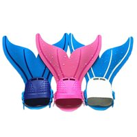 Wholesale Kids Swimmable Mermaid Fins Fantasy fast Spandex Swimming Flippers Child Youth Adjustable Wave Fins for Diving Scuba LH F8107