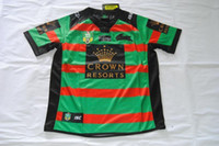 heat transfers - NRL National Rugby League South Sydney Rabbitoh new jersey High temperature heat transfer printing jersey Rugby Shirts stitch
