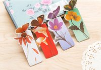 Wholesale Romantic Butterfly Bookmarks Gift Set Cheap Cut Colorful Bookmarks for Book Color Multicolor
