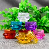 Wholesale 2G G G Empty Cream Box Diamond shaped Cosmetic Jar Compact Sample Bottle Makeup Refillable Container Pack of