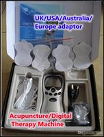 acupuncture supplies - Tens Acupuncture Digital Therapy Machine Massager Retail packages supply power adaptor for UK USA Australia Europe