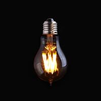 amber led lamp - Amber Glass Shape W K Edison A19 Victoria Lamp Globe LED Filament Bulb E26 E27 Base V VAC Dimmable
