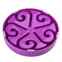 Wholesale Slow Dog Food Bowl - Dog Food Maze Bowl Bloat Stop Slow Fun Feeder Feed Dog Bowl Interactive Bloat Stop Feeder, Purple