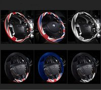 Wholesale 2016 New Hot Style Fashion The Union Flag Ice Slik Steering Wheel Sets Leopard Four Leather Supplies Automotive Interiors
