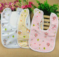 Wholesale maternal and child supplies baby waterproof bibs that made of velvet saliva towel with two buttons