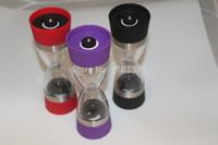 Wholesale New Dual Grind In Ceramic core Pepper Salt Spice Seasonings Stainless Steel circle Grinder Mill
