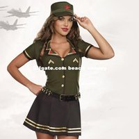 aviator costume - DHL New American Aviator sexy uniforms for stage performance costumes Halloween COS uniforms Cosplay female