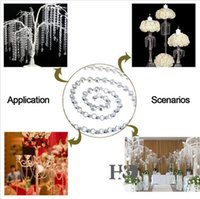 Wholesale 1 M Lighting Accessories Chandelier Crystal mm Octagon Beads Chain Chandelier Prisms Hanging Wedding Garland K9 crystal