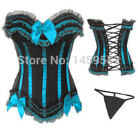 lingerie 3x - free pp instylesBow Corset with G String Bustier Sexy Lingerie S M L XL X X X X X