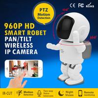 Wholesale 960P HD Wireless Hidden Robot Camera Baby Monitor WIFI Camera Pan Tilt Home Security IP Camera Night Vision CCTV Cam