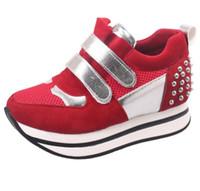 animal shopping online - Hot sale Newest Fashion women platform walk shoes women casual shoes Chaussure Femme walking basket shoes online shop black red