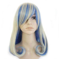 beautiful haircuts - WigShow Fashion Beautiful Multi color Medium Length Rinka Haircut Cosplay Costume Wig free Wig Cap