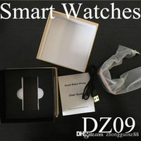 Wholesale 20X Smartwatch Latest DZ09 U8 Bluetooth Smart Watch With SIM Card For Apple Samsung IOS Android Cell phone inch DHL Free HOT B BS