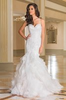 beautiful gardens pictures - Custom Made Beautiful Court Train Illusion Transparent Back Beaded Lace Mermaid Wedding Dresses Bridal Gowns d41 New Sexy Dress
