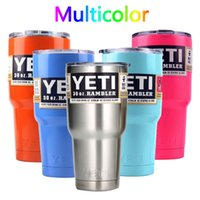 beer bottle straw - 2016 New Yeti Cups oz oz Stainless Steel Outdoor Gear Tumbler Cup with straw Car Vehicle Beer Mugs Double Yeti Coolers