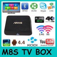 Wholesale M8S Android TV Box Amlogic S812 G G Kodi K S812 Quad Core android TV Box Smart Media Player Bluetooth KODI