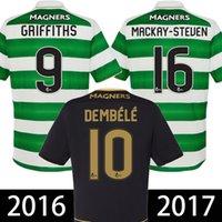 Barato fútbol celta camiseta 2016 2017 casa verde blanco negro ausente Camiseta céltica de futbol calidad de Tailandia maillot de pie el envío libre