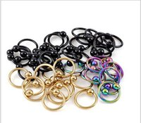 Wholesale DHL Free1000pcs Nose Rings Body Art Piercing Jewelry Fashion Jewelry L Stainless Steel Nose Open Hoop Earring Studs Fake