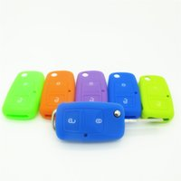 Wholesale Car Accessories Key Case Key Bag Key Cover for Volkswagen VW Golf mk7 Skoda Octavia A7 Buttons Silicone Key Portect Case