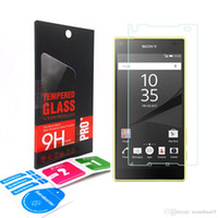 Wholesale For Sony Xperia XA X Z5 M6 M5 M4 C6 C5 E5 E4 Premium H Explosion proof Tempered Glass screen Protector film Guard With Retail BOX