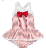 Wholesale Summer Girls Dress Romper Baby Girls Bodysuit Girl Tutu Skirt Romper stripe dress in stock