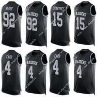 Wholesale Drop Ship New Nik Elite Raiders Stacy McGee Derek Carr Michael Crabtree Stiched Soccer rugby jerseys Men America Football Jersey