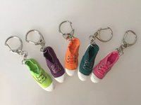 accessory shoes store - Shoes keychain student small gift souvenir bag accessories pendant mini Sneaker shoes key chain store promoiton gift
