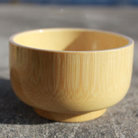 Wholesale Children s tableware baby bowl bamboo bowl natural qualities of wood without paint small wooden bowl soup bowl Korean offer